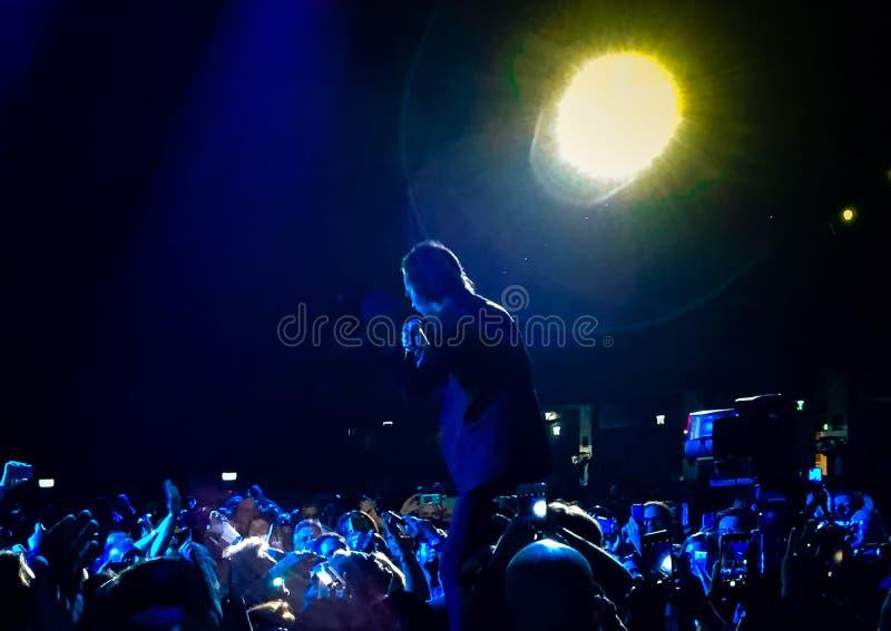 Σπηλιά του Nick & οι κακοί σπόροι στη συναυλία στη Βιέννη στοκ φωτογραφίες