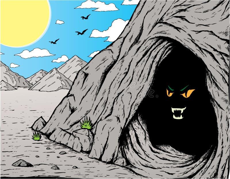 σπηλιά scary απεικόνιση αποθεμάτων