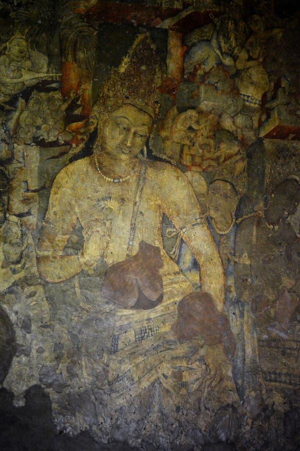 Σπηλιές Ajanta, Ινδία στοκ φωτογραφίες με δικαίωμα ελεύθερης χρήσης