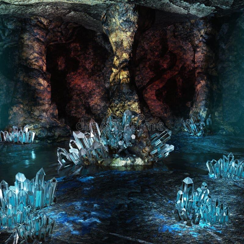 Σπηλιά κρυστάλλου διανυσματική απεικόνιση