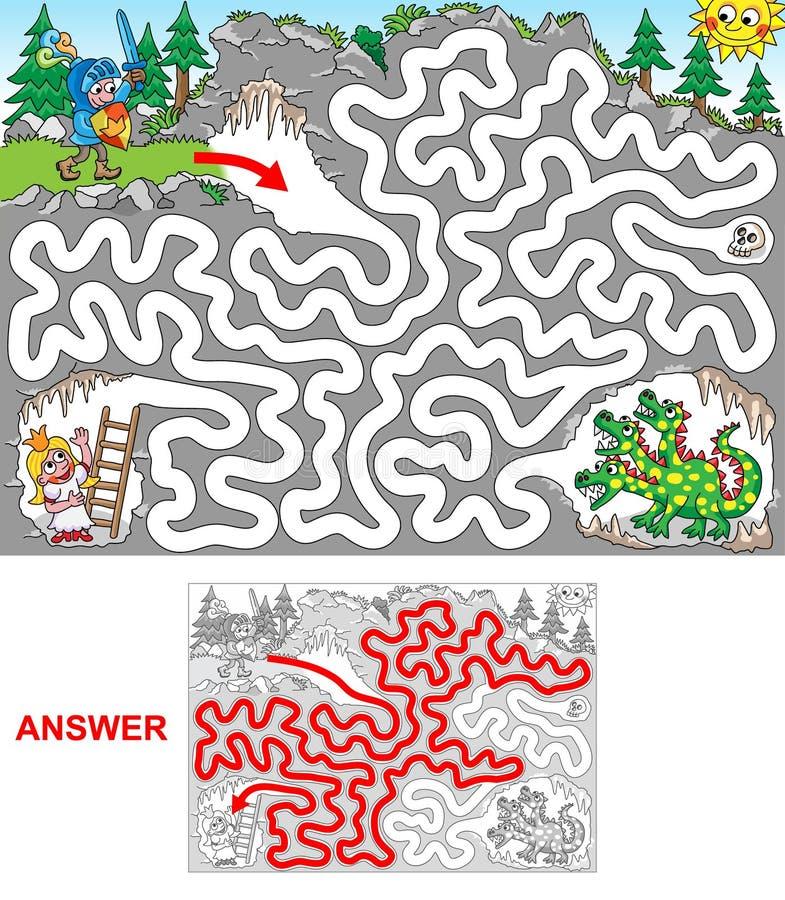 Σπηλιά δράκων διανυσματική απεικόνιση