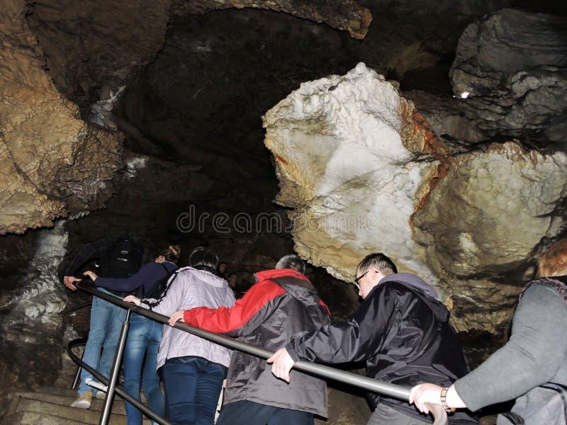 Σπηλιά σταλακτιτών και σταλαγμιτών, Σλοβακία στοκ φωτογραφία με δικαίωμα ελεύθερης χρήσης