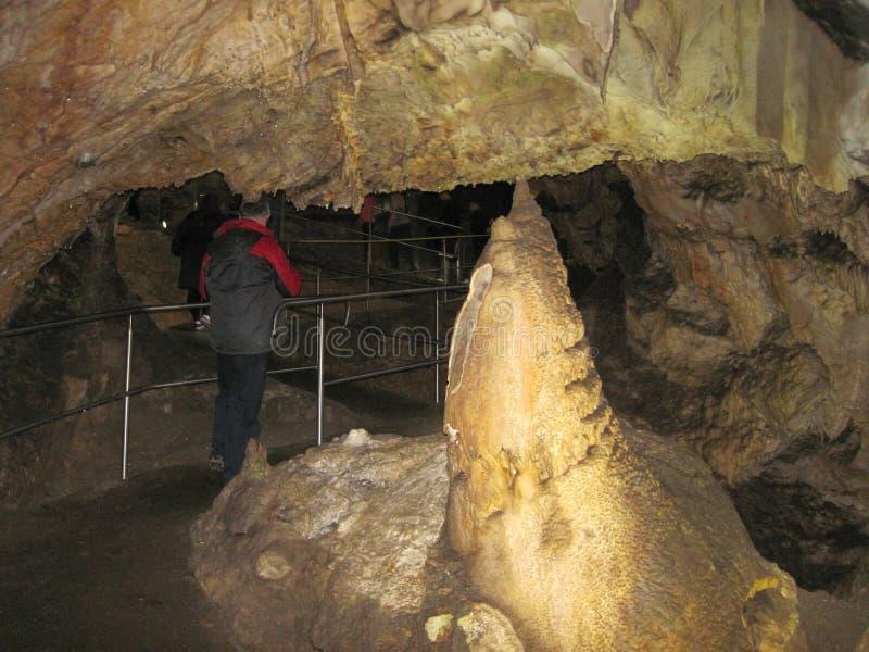 Σπηλιά σταλακτιτών και σταλαγμιτών, Σλοβακία στοκ εικόνες