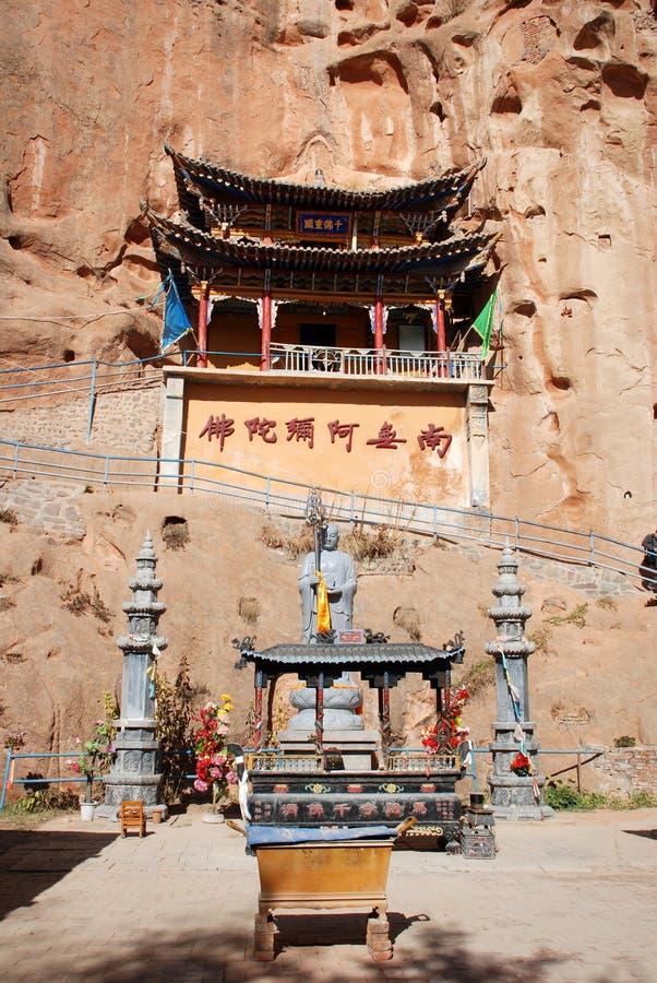 Σπηλιά χίλιος-Βούδας στοκ φωτογραφίες με δικαίωμα ελεύθερης χρήσης