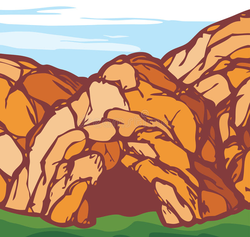 Σπηλιά διανυσματική απεικόνιση