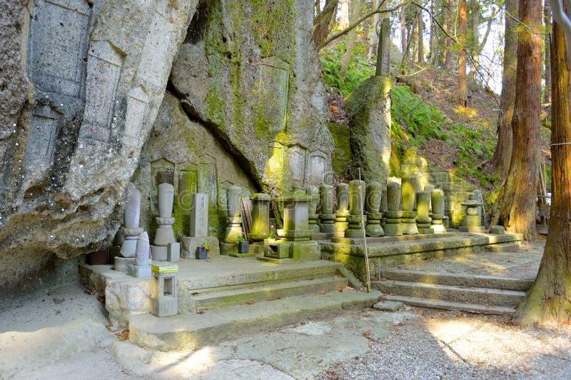 Σπηλιά Amitabha Risshaku-risshaku-ji - Yamadera στοκ φωτογραφία με δικαίωμα ελεύθερης χρήσης