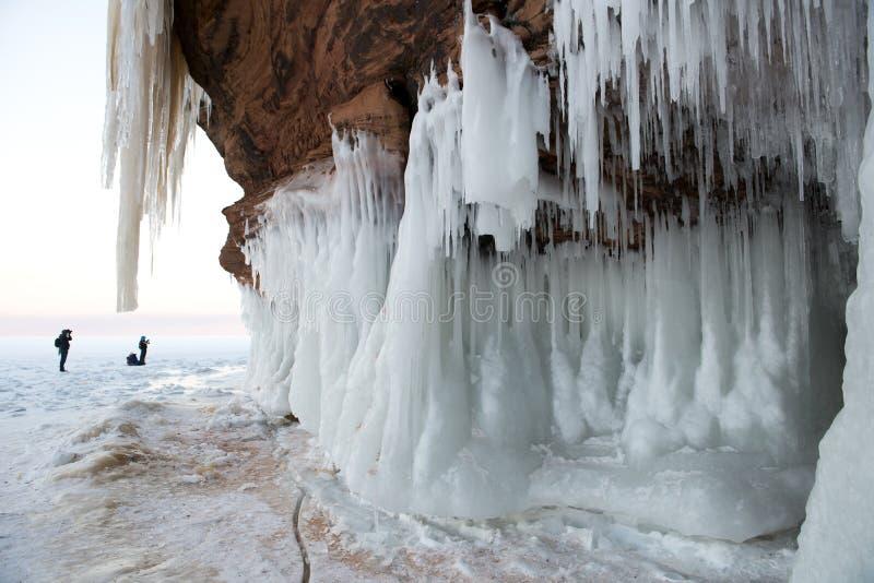 Σπηλιές πάγου νησιών αποστόλων, χειμερινό τοπίο στοκ φωτογραφία με δικαίωμα ελεύθερης χρήσης