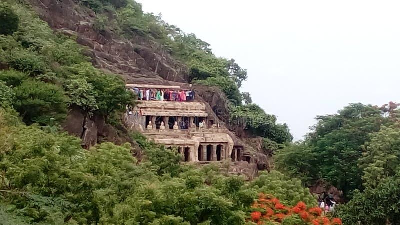 Σπηλιές Undavalli στοκ εικόνες