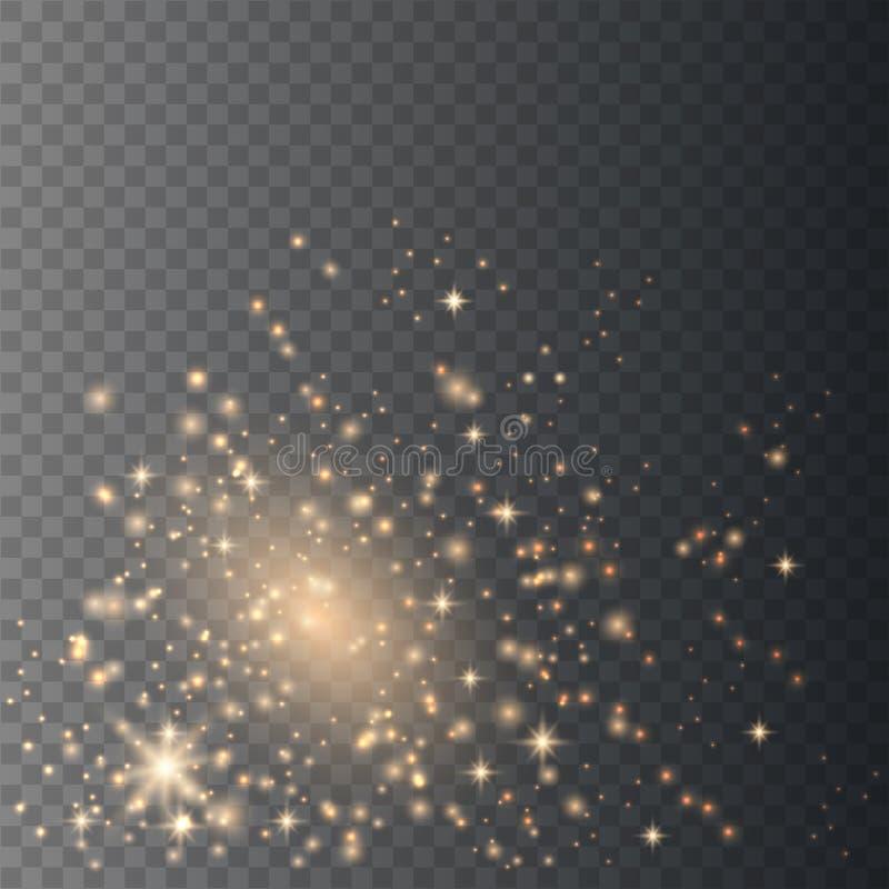Σπινθήρες σκόνης αστεριών διανυσματική απεικόνιση