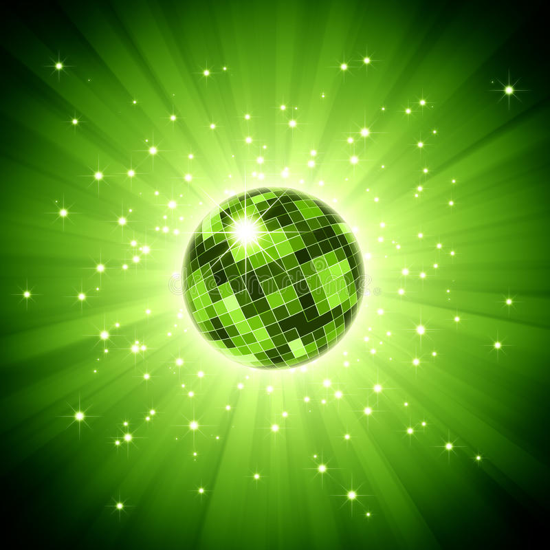 σπινθήρισμα πράσινου φωτό&sigmaf διανυσματική απεικόνιση