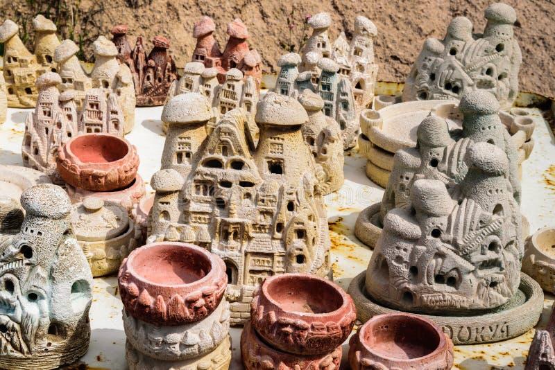 Σπιτικά αναμνηστικά σπιτιών σε Cappadocia στοκ εικόνες