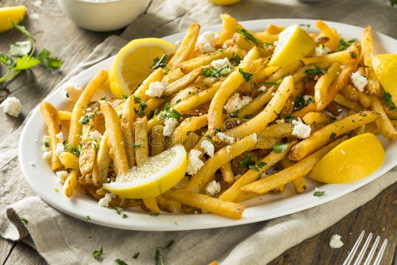 Σπιτικά ελληνικά τηγανητά φέτας και μαϊντανού στοκ φωτογραφίες