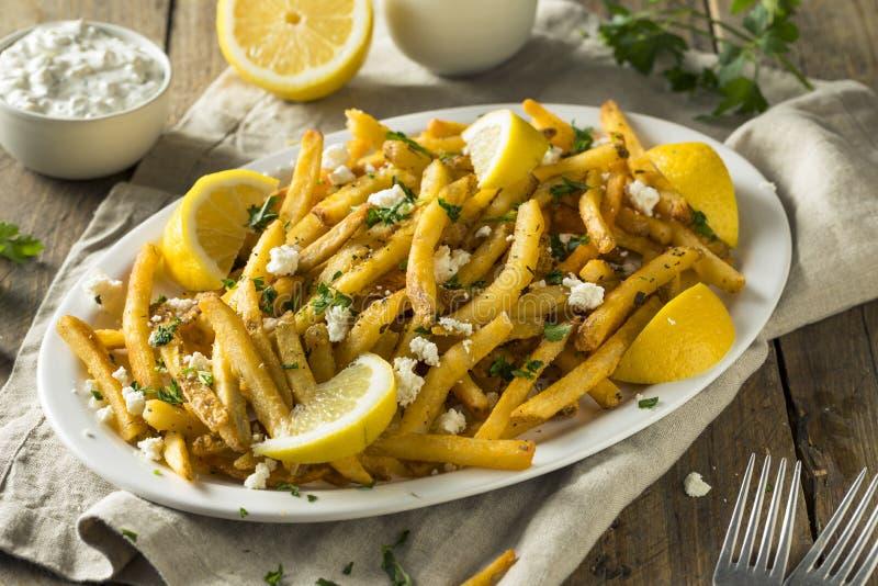Σπιτικά ελληνικά τηγανητά φέτας και μαϊντανού στοκ εικόνες