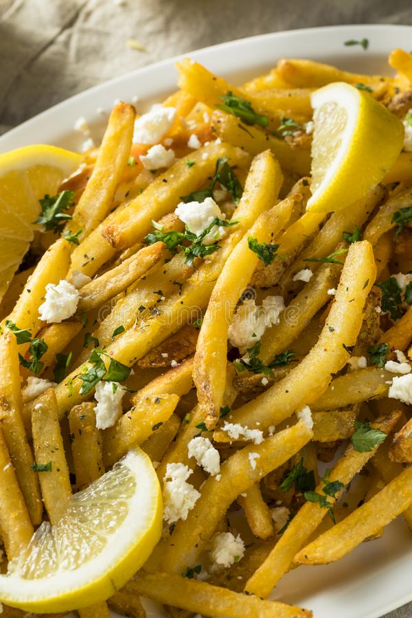 Σπιτικά ελληνικά τηγανητά φέτας και μαϊντανού στοκ εικόνες με δικαίωμα ελεύθερης χρήσης