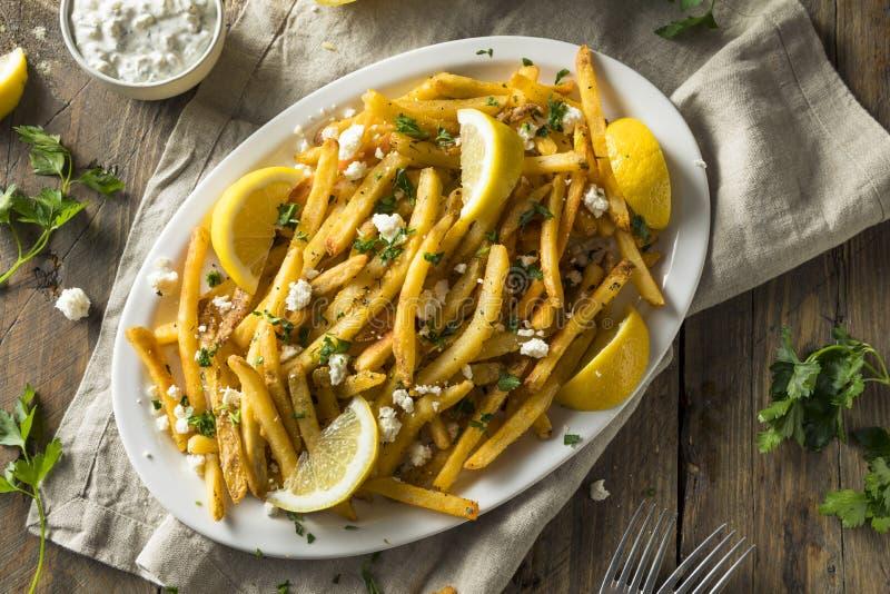 Σπιτικά ελληνικά τηγανητά φέτας και μαϊντανού στοκ εικόνα