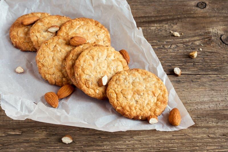 Σπιτικά μπισκότα αμυγδάλων στοκ εικόνες με δικαίωμα ελεύθερης χρήσης