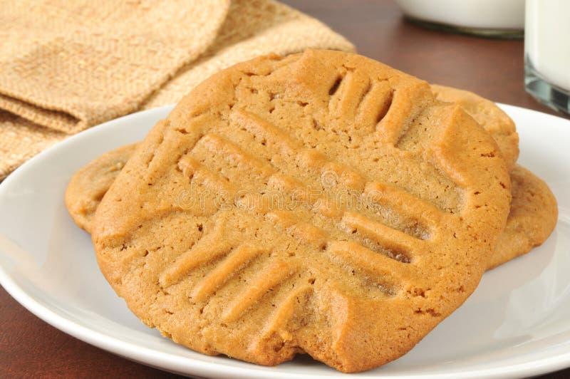 Σπιτικά μπισκότα φυστικοβουτύρου στοκ εικόνα με δικαίωμα ελεύθερης χρήσης