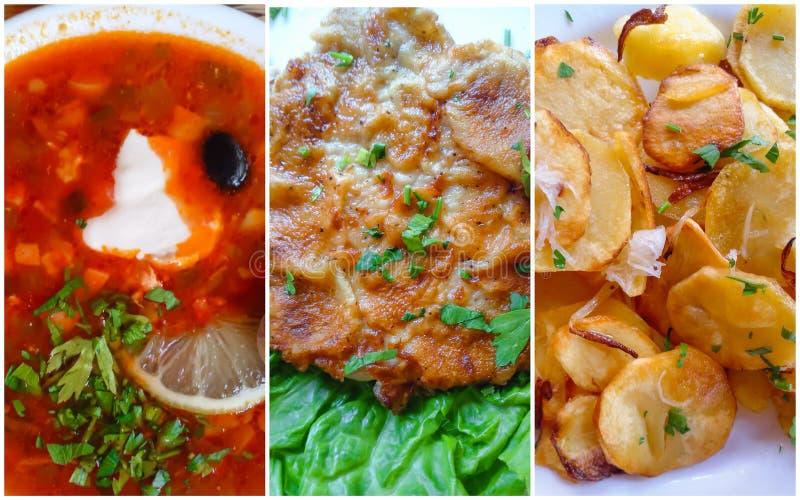 Σπιτικά τρόφιμα κολάζ στοκ φωτογραφίες