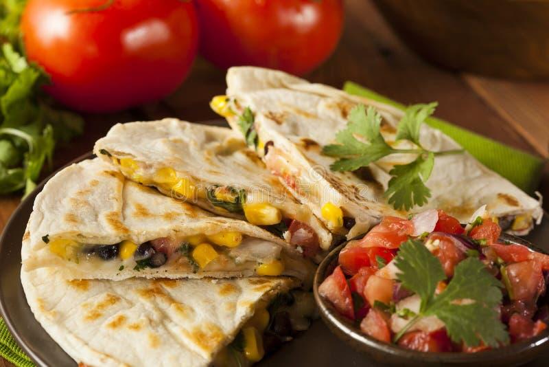 Σπιτικά τυρί και φασόλι Quesadilla στοκ εικόνα με δικαίωμα ελεύθερης χρήσης