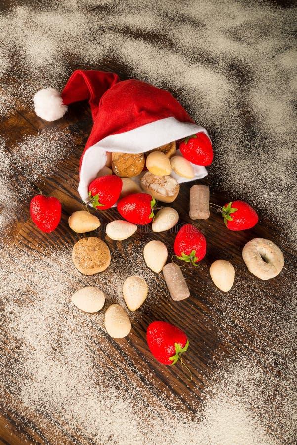 Σπιτικά Χριστούγεννα polvorones στοκ εικόνα