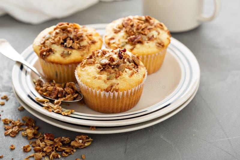 Σπιτικά muffins granola για το πρόγευμα στοκ φωτογραφία με δικαίωμα ελεύθερης χρήσης