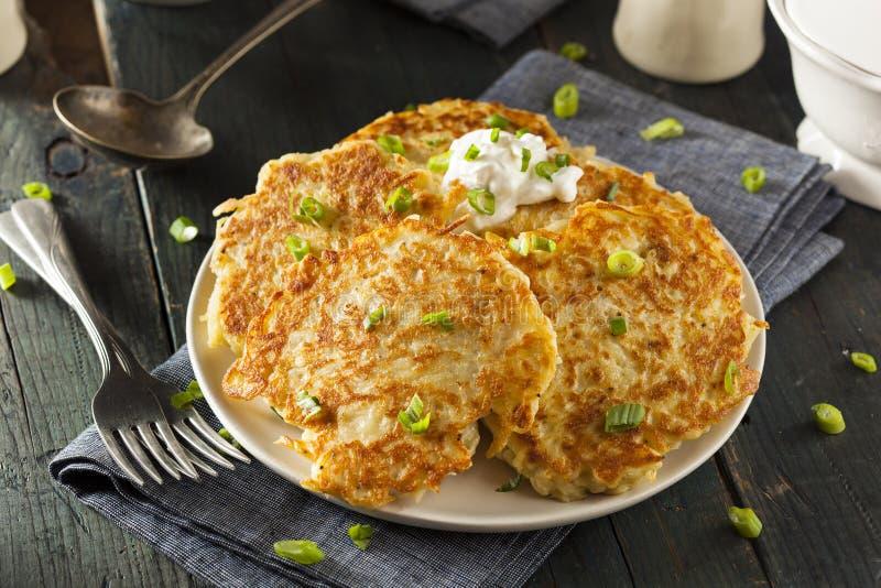 Σπιτικές τηγανίτες πατατών Boxty ιρλανδικές στοκ εικόνα με δικαίωμα ελεύθερης χρήσης