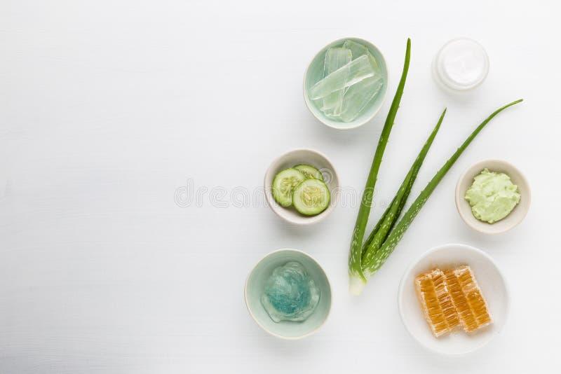 Σπιτική βοτανική καλλυντική υγιεινή κρέμα δερματολογίας για την ομορφιά α στοκ εικόνα με δικαίωμα ελεύθερης χρήσης