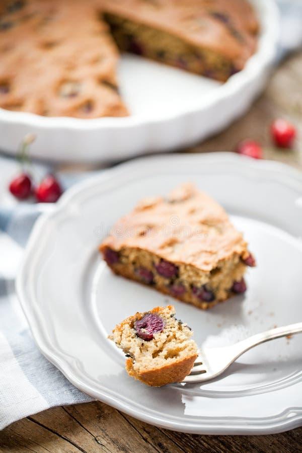 Σπιτική πίτα κερασιών paleo στοκ φωτογραφία με δικαίωμα ελεύθερης χρήσης