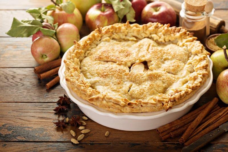 σπιτική πίτα μήλων στοκ φωτογραφίες