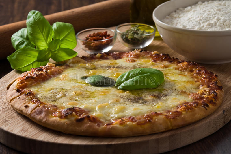 Download σπιτική πίτσα στοκ εικόνα. εικόνα από μαγειρικός, μοτσαρέλα - 22791953