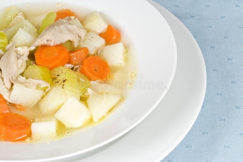 σπιτική σούπα κοτόπουλο&up στοκ φωτογραφία με δικαίωμα ελεύθερης χρήσης