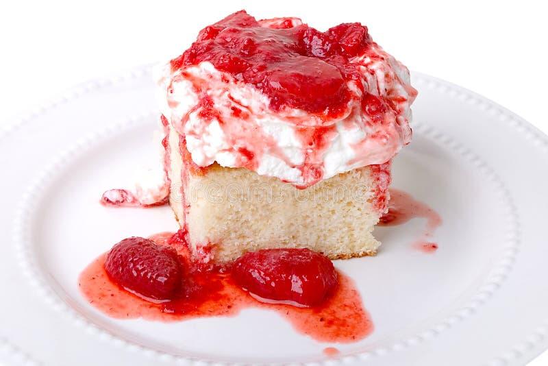 Σπιτική φράουλα shortcake στοκ εικόνα