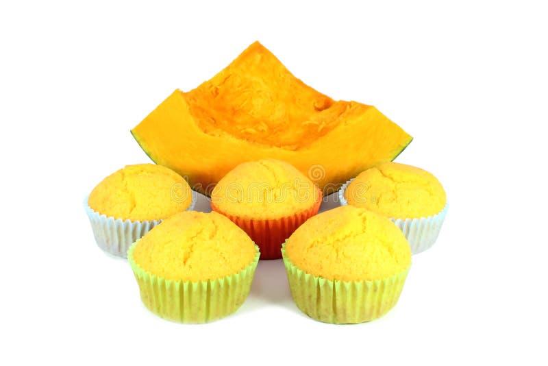 σπιτική muffins κολοκύθα στοκ εικόνες