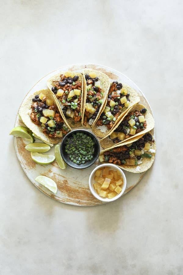 Σπιτική vegan φωτογραφία τροφίμων taco στοκ εικόνες