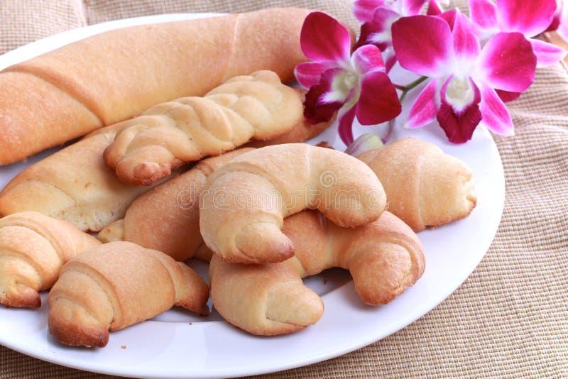 σπιτικοί ρόλοι ψωμιού στοκ εικόνα