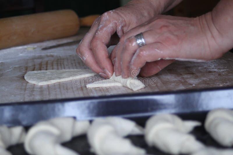 Σπιτικός croissant στοκ φωτογραφία με δικαίωμα ελεύθερης χρήσης