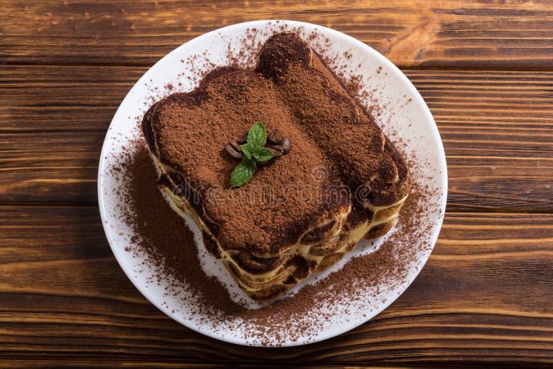 Σπιτικό κέικ Tiramisu στοκ εικόνα