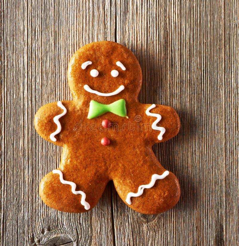 Σπιτικό μπισκότο ατόμων μελοψωμάτων Χριστουγέννων στοκ φωτογραφίες
