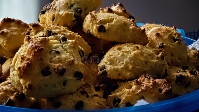 Σπιτικό σπιτικό ρικοττά και σοκολάτα ρίχνει μπισκότα στοκ εικόνες με δικαίωμα ελεύθερης χρήσης