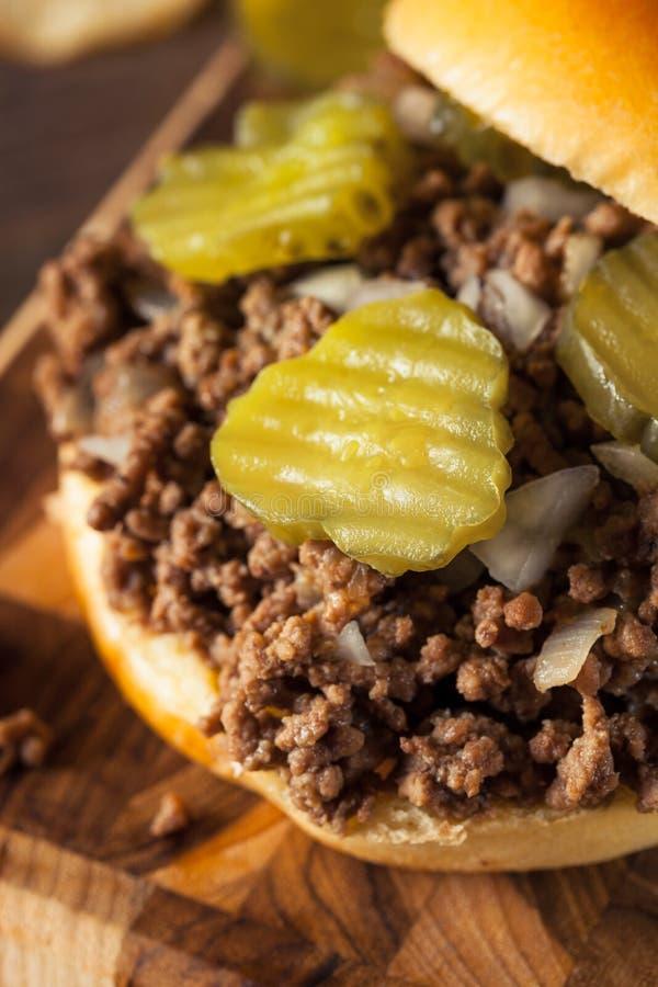 Σπιτικό χαλαρό σάντουιτς ταβερνών κρέατος στοκ φωτογραφίες με δικαίωμα ελεύθερης χρήσης