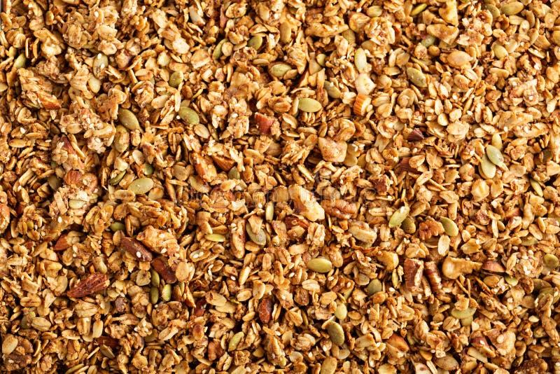Σπιτικό ψημένο υπόβαθρο τροφίμων granola στοκ φωτογραφία με δικαίωμα ελεύθερης χρήσης