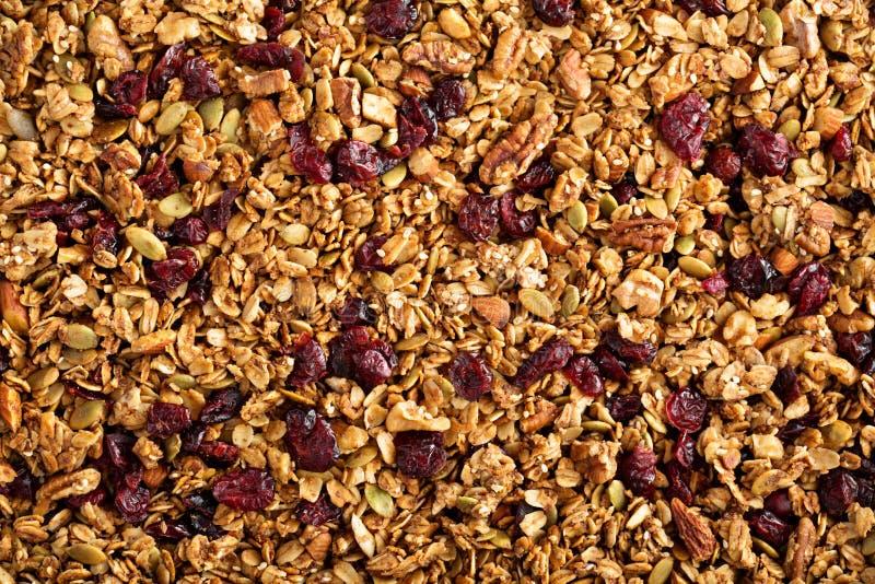 Σπιτικό ψημένο υπόβαθρο τροφίμων granola στοκ φωτογραφία