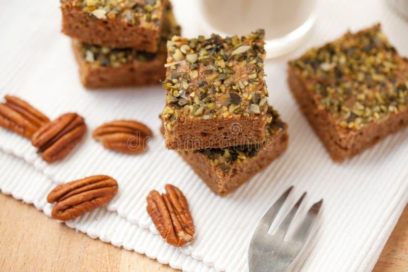 Σπιτικό paleo κολοκύθας brownies στοκ εικόνες με δικαίωμα ελεύθερης χρήσης