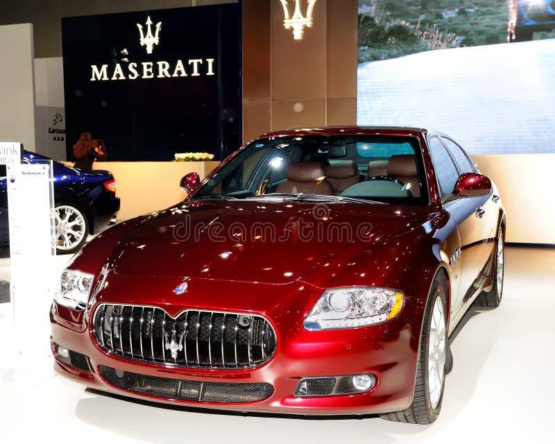 Σπορ αυτοκίνητο Quattroporte Maserati στοκ εικόνες