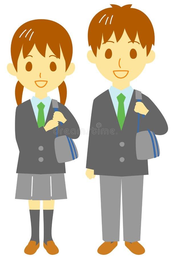 Σπουδαστές γυμνασίου διανυσματική απεικόνιση
