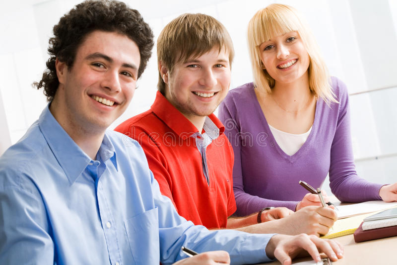 σπουδαστές ομάδας στοκ φωτογραφία