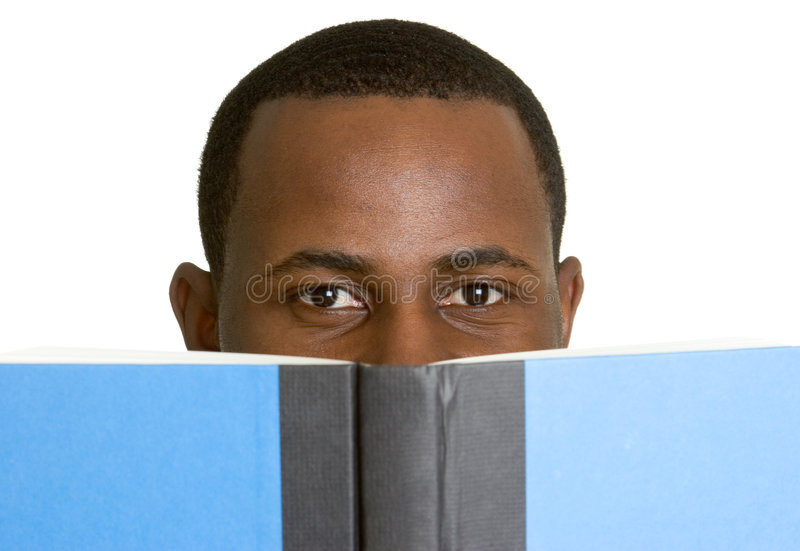 σπουδαστής ανάγνωσης βι&b στοκ εικόνες