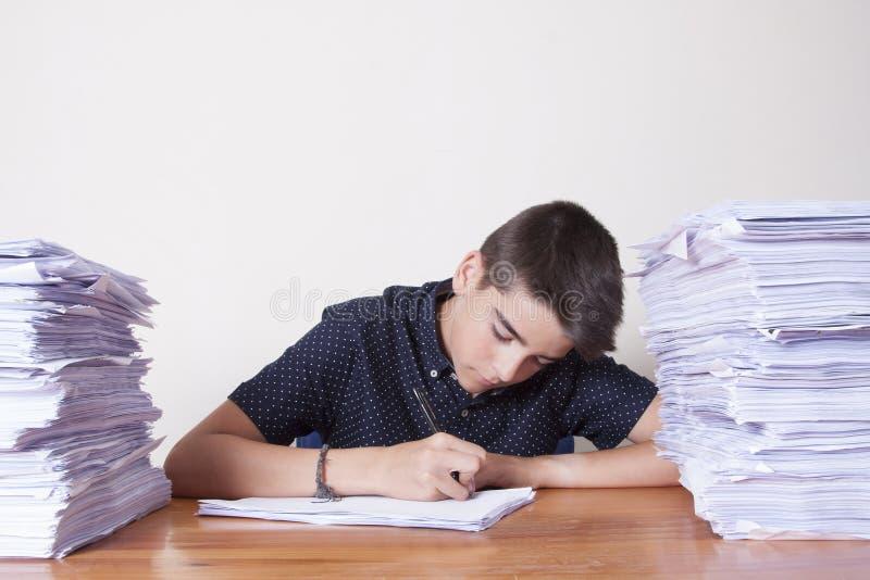 Σπουδαστής παιδιών στο γραφείο στοκ εικόνες