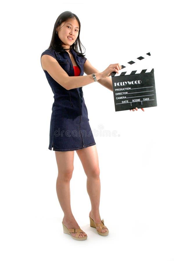 σπουδαστής σκηνοθέτη στοκ εικόνες