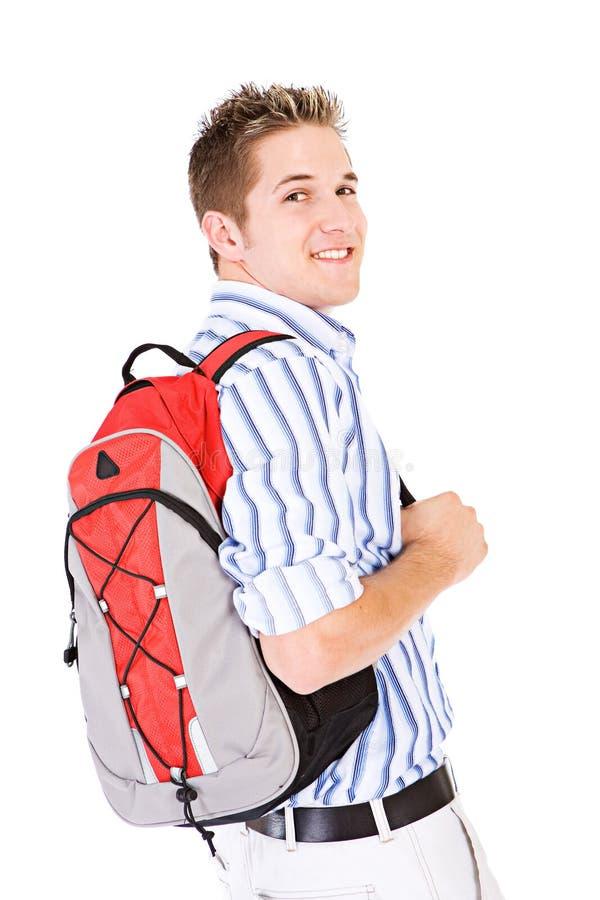 Σπουδαστής: Τύπος κολλεγίου που φορά το σακίδιο πλάτης στην κατηγορία στοκ φωτογραφίες με δικαίωμα ελεύθερης χρήσης